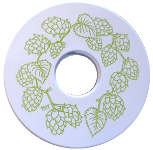 Beer Growler Collar - Hops Wreath